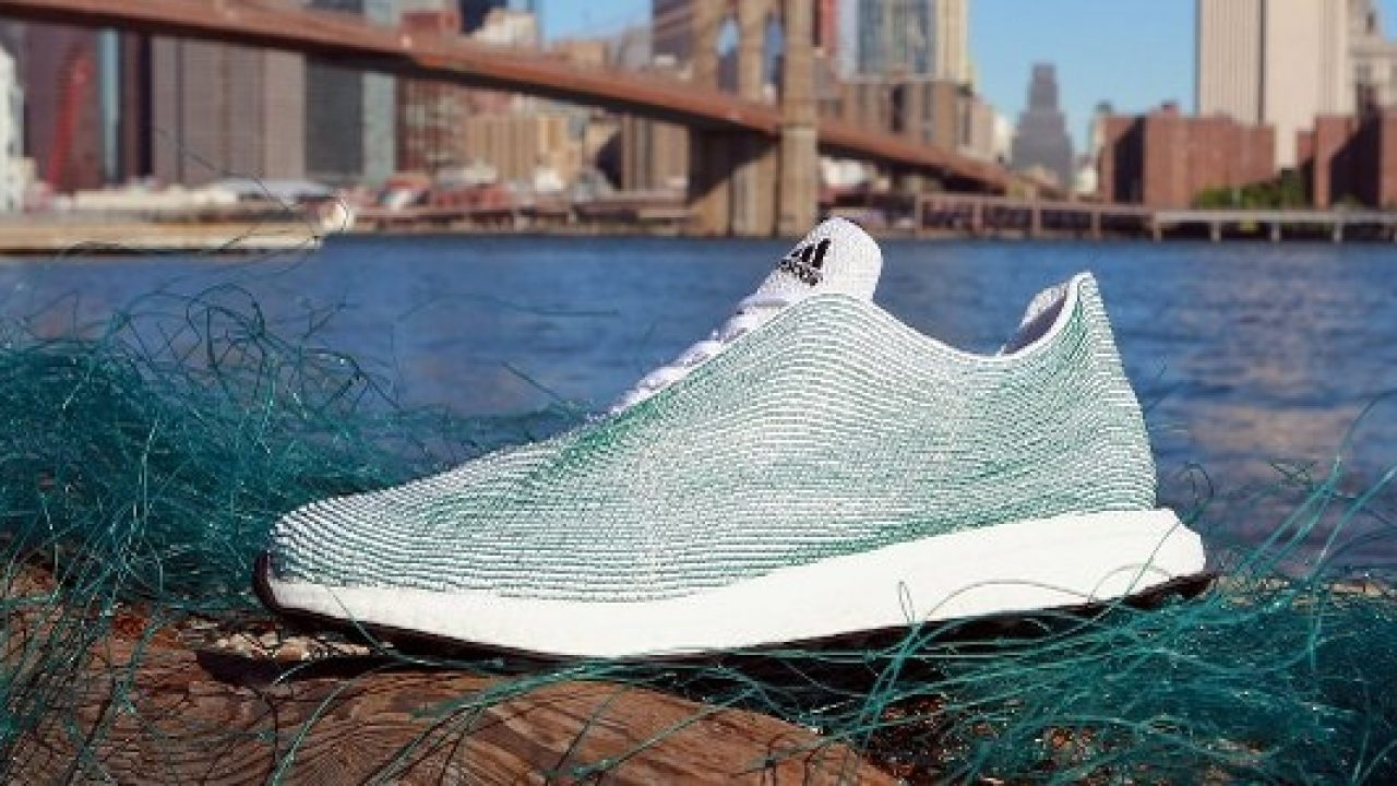1 million shoes made out of ocean plastic sold by Adidas in