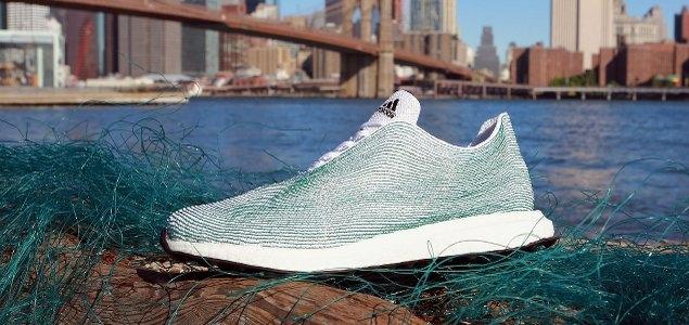 ocean plastic sold by Adidas